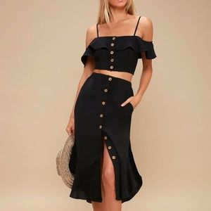 Malta Off-the-Shoulder Button-Up Two-Piece Dress